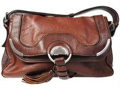 Celine Brown Leather Shoulder Bag by VintageBagsGalore on Etsy, $470.00