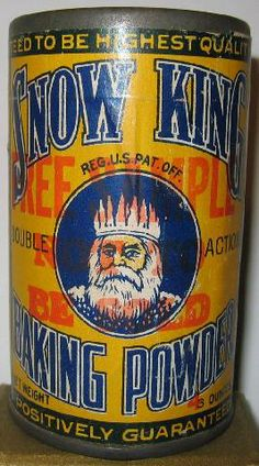icollect247.com Online Vintage Antiques and Collectables - Snow King Baking Powder Sample Tin Full Unopened 1910s-20s
