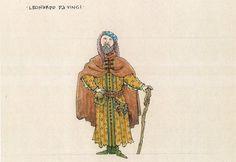 Ever After musical costume concept art - Jess Goldstein - Leonardo Da Vinci