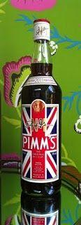 Pimm's o'clock!  Union Jack bottle of pimm's