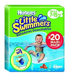 Huggies Little Swimmers, Talla 3+, 20 pañales