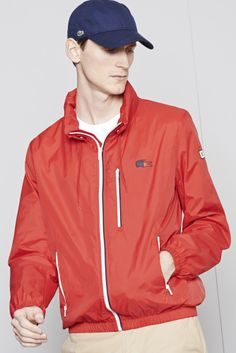 Lacoste Nautical hooded taffeta jacket