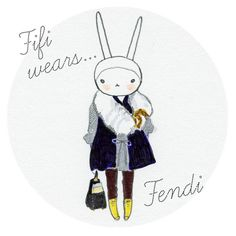 Fifi Lapin - pretty little fashion illustration