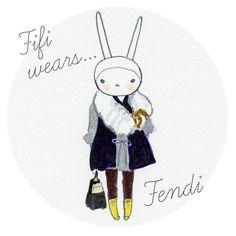 Fifi Lapin - pretty little fashion illustration