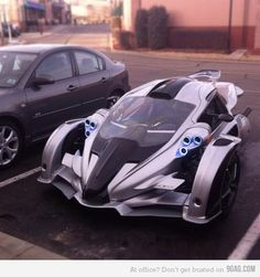 Look what I saw today.. Tron Car :O