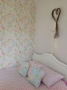 Bedroom Decorating Ideas Cath Kidston cath kidston floral wallpaper cosy vintage bedroom | now i lay me