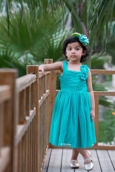 Cool and stylish sea green gown from KIDSDEW will perfectly compliment your princess cuteness this summer.