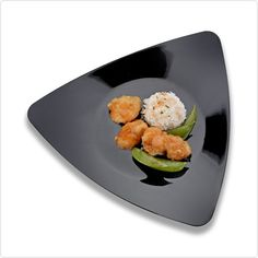 Black 9 Inch Triangle Plastic Luncheon Plates/Case of 120