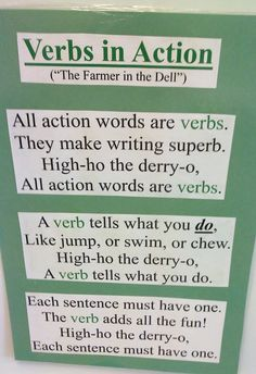 Verbs in Action Song