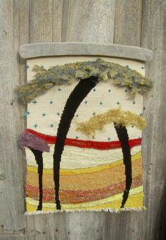 woven TAPESTRY tapestry wall wall hanging fiber by yayatheweaver