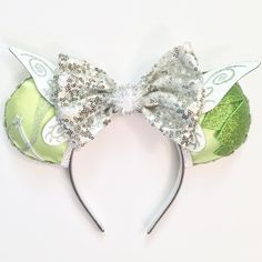 [orginial_title] – Jen Mon Pixie Dust Super Deluxe Tinkerbell inspired Magic Mouse Ears > by [author_name] Disney Minnie Mouse Ears, Diy Disney Ears, Tinkerbell Disney, Disney Bows, Disney Diy, Cute Disney, Disney Outfits, Disney Crafts, Tinkerbell Outfit