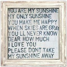 Art Print - You Are My Sunshine