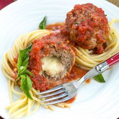 These Mozzarella Stuffed Meatballs are tender, flavorful and filled with gooey cheese! You'll savor every bite. (Italy)