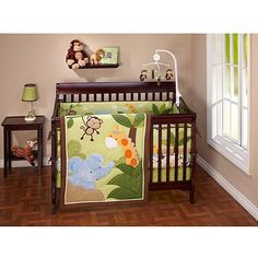 - Jungle Time Crib Bedding 3-Piece Set
