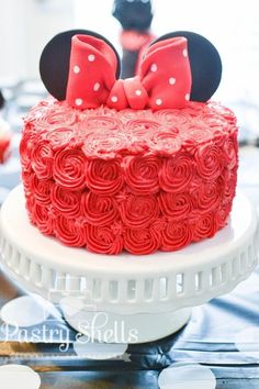 10 Minnie Mouse Birthday Party Ideas on Love the Day #birthdaycakes