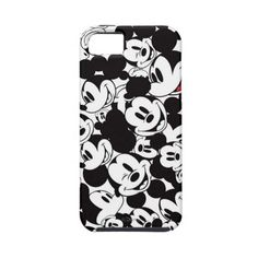 Mickey Crowd Pattern Iphone 5 Cover ($48) ❤ liked on Polyvore featuring accessories and tech accessories