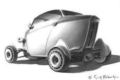 Vehicle (rear) by Scott Robertson