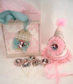 Etsy, Marie Antoinette, Pink, Party, Hat, Crepe