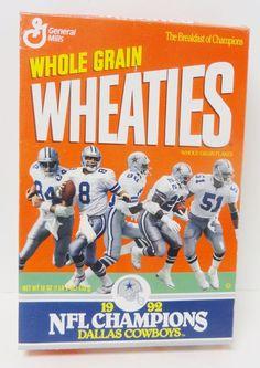 DALLAS COWBOYS 1992 NFL Champions Wheaties Cereal Box Breakfast of Champions     | Sports Mem, Cards & Fan Shop, Fan Apparel & Souvenirs, Football-NFL | eBay!