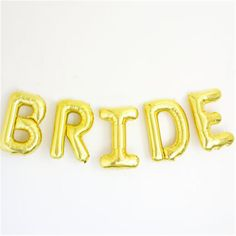 1set 16inch Bride/Bride To Be Number Foil Letters Balloons Wedding Decoration - Wedding Look
