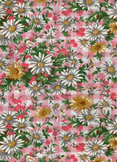 Daisies Fat Quarter cottom fabric by betweeneedlesandpins on Etsy, $3.95