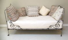 Polished antique French daybed
