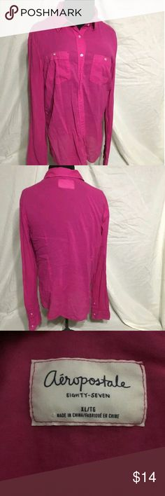 Aeropostale Top XL Good condition. No holes or stains Aeropostale Tops Button Down Shirts