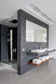 Luxury Bathroom Master Baths Walk In Shower is definitely important for your home. Whether you pick the Luxury Bathroom Master Baths Beautiful or Luxury Master Bathroom Ideas, you will make the best Small Bathroom Decorating Ideas for your own life. House Bathroom, House Design, Bathrooms Remodel, Home, Interior, Modern House, Minimalist Bathroom, Minimal Bathroom, Modern Bathroom Design