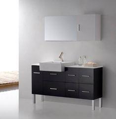 Loza II - Modern Bathroom Vanity Set 55