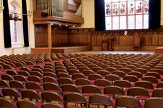 Our Audience Seating range at St Dunstan's College Chapel. Education, School, Religion, Church, Furniture, Folding Seating, Interior, Design, Decor.