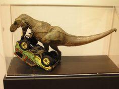 Stop-motion tyrannosaurus for Jurassic Park (1993)