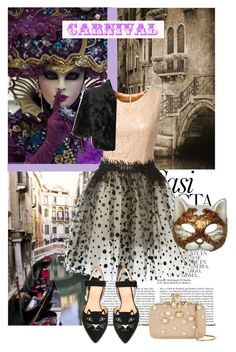 """""""Carnival"""" by pumsiks ❤ liked on Polyvore featuring Home Decorators Collection, Whiteley, Loyd/Ford, Elie Saab, Charlotte Olympia, Ariella, Masquerade, contest and catprint"""