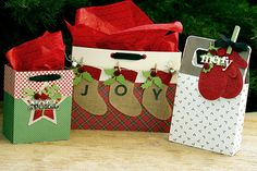 Embellished Gift Bags by Erin Lincoln for Papertrey Ink (December 2015)