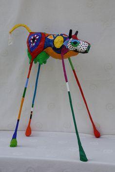 Lian Verhoeven - Beeldende kunst Paper Mache Projects, Paper Mache Crafts, Art Projects, Origami, Paper Mache Sculpture, Sculpture Art, Fantasy Kunst, Atelier D Art, Middle School Art