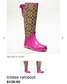 Coach rain boot! Love love love!