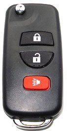 """2004 04 Nissan Titan The Switchblade: Key & Remote Combo by iKeyless. $49.57. This unique product is a """"switchblade"""" style remote + key combo unit.  It performs two functions: It works as a key AND a keyless entry remote. With the press of the silver button, the hidden keyblade is spring-released, automatically locking into the useful position.  Press the button again so you can press the blade back into it's hidden position. This device is made of high-quality, high-impa..."""