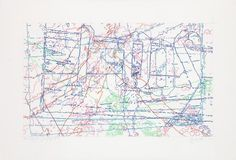 INGRID CALAME  #318 Drawing (Tracing from Buffalo, NY), 2010  Colored pencil on trace Mylar  34 X 50 inches