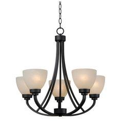 Rouen 5-light Black Chandelier | Overstock™ Shopping - Great Deals on Design Craft Chandeliers & Pendants