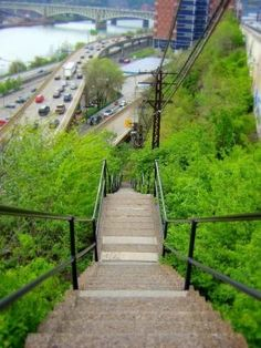 Pittsburgh hillside steps. These are legally city streets!