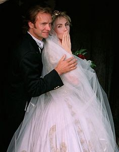 Sting & Trudie on their wedding day- amazing