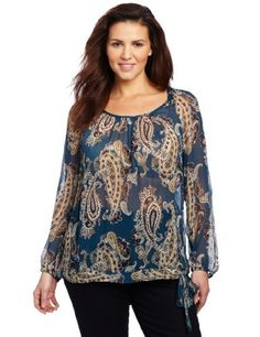 Lucky Brand Women's Plus-Size Bianca Paisley Top Lucky Brand. $65.99. Made in Indonesia. 100% Crinkle Viscose Chiffon. Dry Clean Only. Scoopneck. Bottom tie