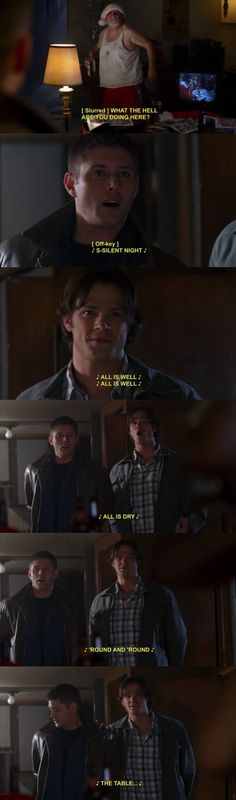 3x08 A Very Supernatural Christmas ||| Sam and Dean sing a Christmas carol... sort of.