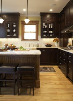 Kitchen Dark Cabinets Design, Pictures, Remodel, Decor and Ideas