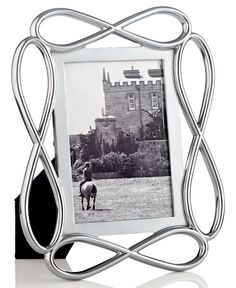 """Nambe Infinity 4"""" x 6"""" Picture Frame"""