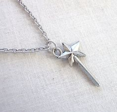 Magic Wand Necklace  Fairy Godmother  by LoveYourBling on Etsy