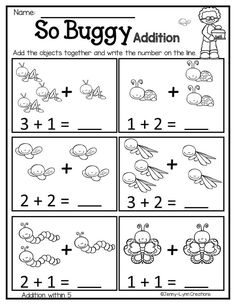 March Math & Literacy Breeze into spring with this March themed math and literacy packet! There are worksheets with a Kindergarten Math Activities, Math Literacy, Preschool Math, Math Math, Math Addition Worksheets, Kids Math Worksheets, Numbers Preschool, Math For Kids, Math Lessons