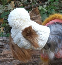 Hat Dog PATTERN, will teach you how to make delicious hats for pets. Pet dog pattern Average adult size of a cat or dog with a width between the ears of 2.4 inches in the widest part of the ear (the lower part of the ear), width is not more than 2.5 (to ensure a correct fit, please measure your pet before ordering) Size L-XL Knit stitches with a needle.