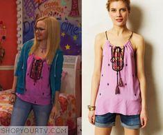 Liv & Maddie: Season 2 Episode 15 Maddie's Pink Embroidered Top