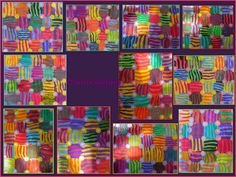 quadrillages Op Art Lessons, Petite Section, Painting For Kids, Art Plastique, Elementary Schools, Collage, Quilts, Pattern, Sharpies