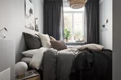 Small grey bedroom